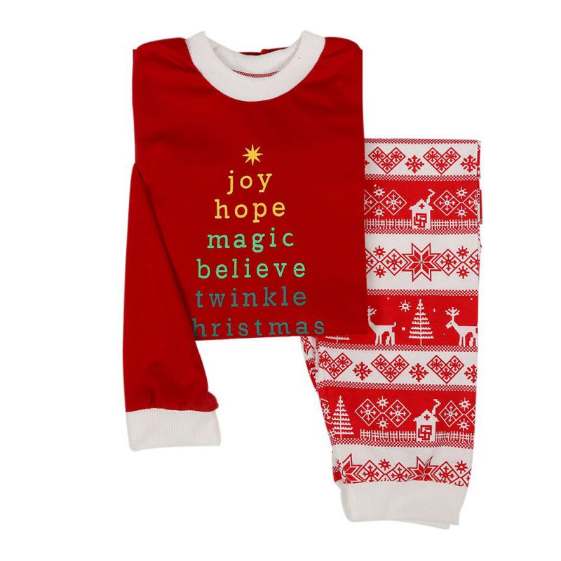 Fashion Christmas Womens Mens Kids Children Family Pajamas Sleepwear Nightwear Long Johns Pajamas Set