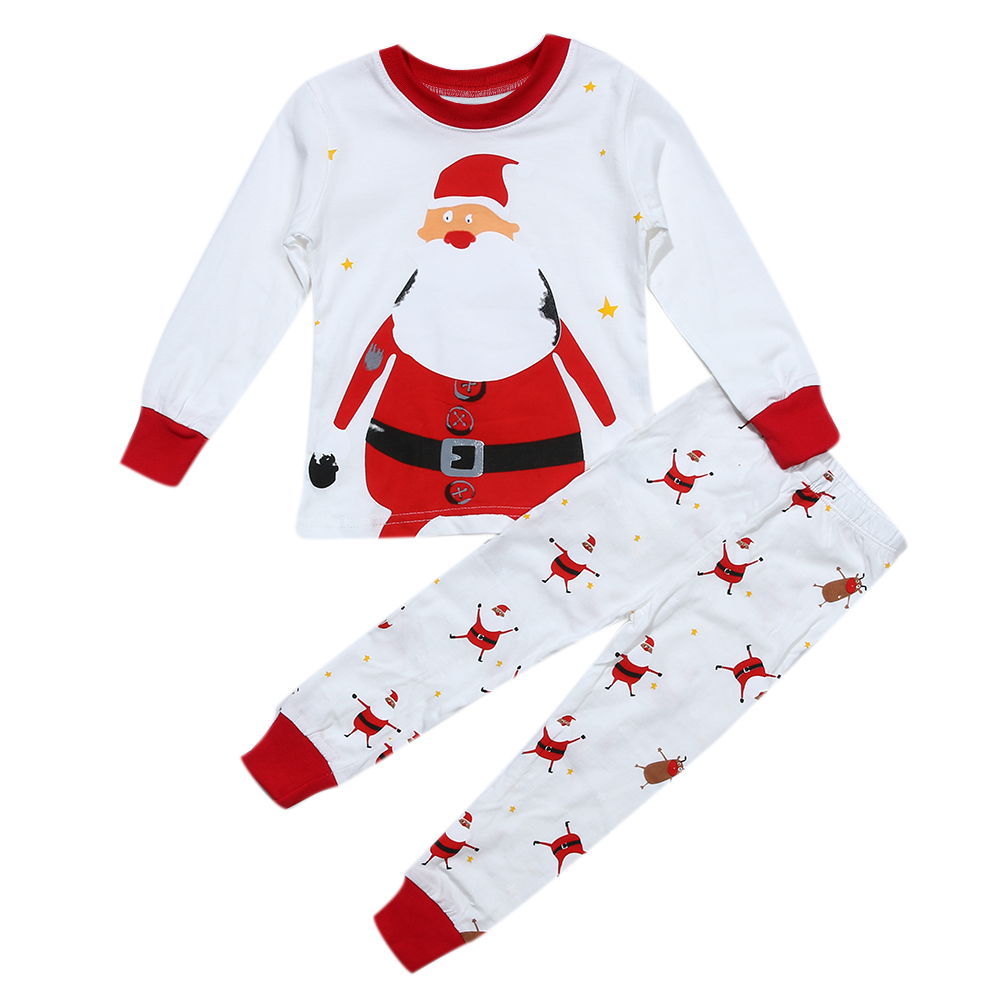 2pcs Unisex Baby Kids Clothes Set Spring Autumn Claus Printed Long Sleeve T-Shirt+Long Pants Kids Children Clothing Set Outfits playmobil лошади наездница эквилибриства на лошади 5229pm