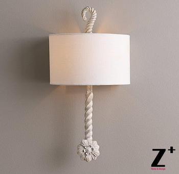 Item de réplica Estilo Amercian Calla arandela arandela de metal envelhecido branco rústico lâmpada de parede frete grátis