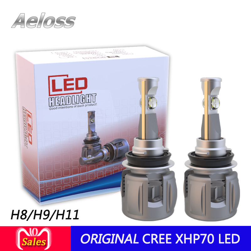 1 set 120W 15600LM high power CR-EE XHP70 turbo fan LED Front fog lamp H8 H9 H11 CAR LED headlight with 4300k 5000k 6000k by DHL