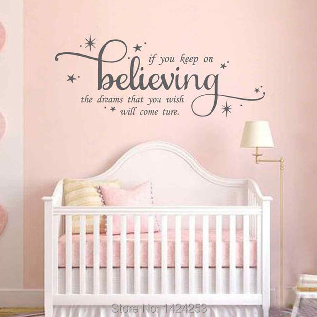 Battoo Cinderella Large Wall Decals If You Keep On Believing S Nursery Fairytale Inspirational Quote