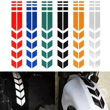 Универсальные Светоотражающие стикеры для мотоциклов колеса на крыле водонепроницаемый безопасности Предупреждение стрелка клейкие ленты автомобильные наклейки