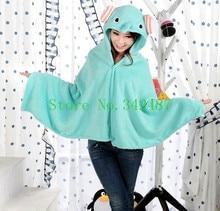 New Animal My Neighbor elephant Style Lovely Plush Soft Cloak Home Warm Cape Poncho Hoody Coat