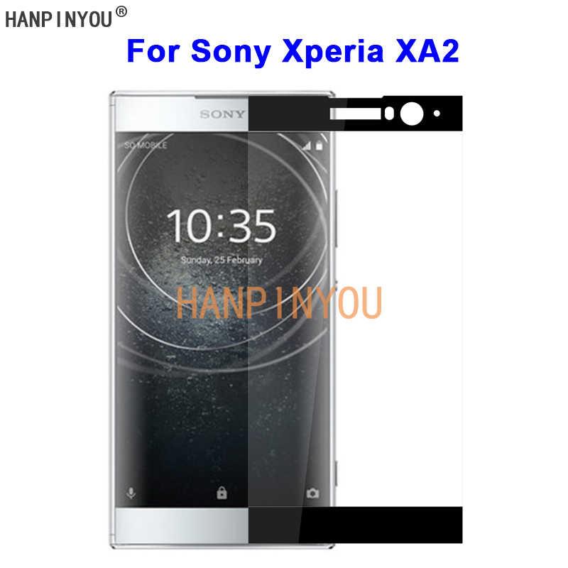 """Pour Sony Xperia XA2/Dual H3113 5.2 """"9 H dureté 2.5D couverture complète trempé verre trempé Film protecteur d'écran protéger la garde"""