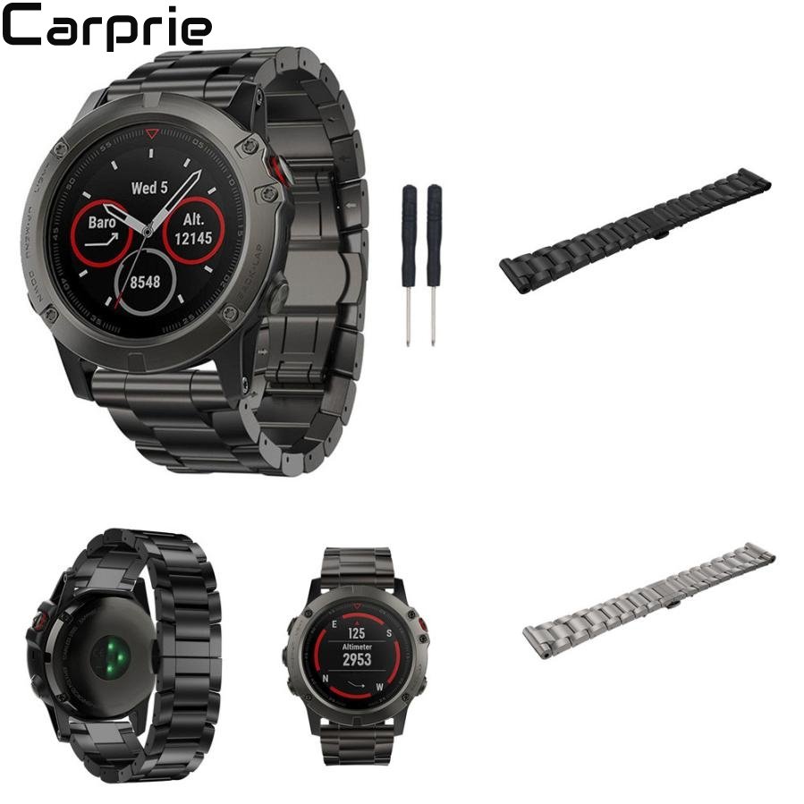 NEW Best Price ! Titanium Steel Bracelet Wrist Strap Smart Watch Band For Garmin Fenix 5X GPS drop shipping jun25 uienie 26mmsilicone strap for garmin fenix 5x fenix3 gps smart watch fitness bracelet smart accessories replacement