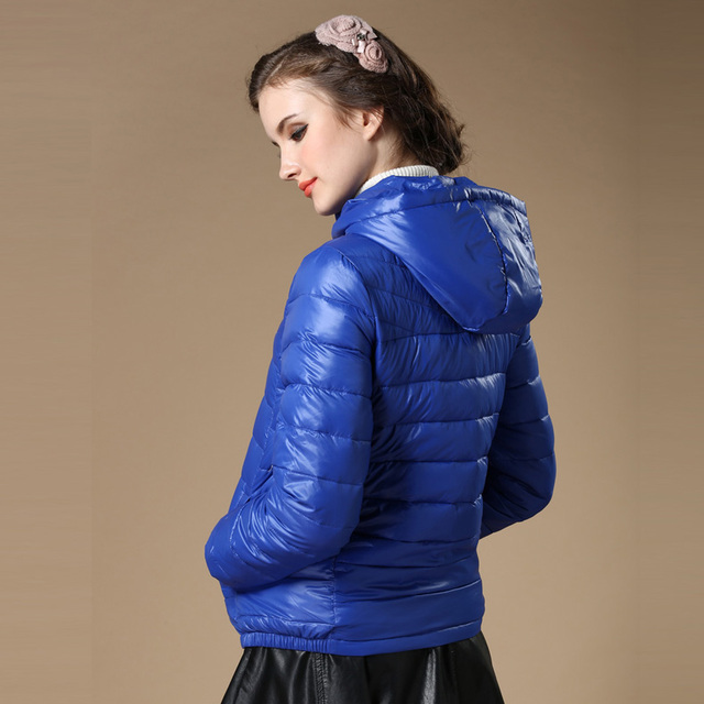 New 2016 Winter Autumn Women 90% White Duck Down Jacket Women's Hooded Light Down Jackets Warm Winter Coat Parkas High Quality 4