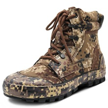 Men Outdoor Camouflage Boots Training Shoes Combat Desert Tactical Hiking Camping  Climbing