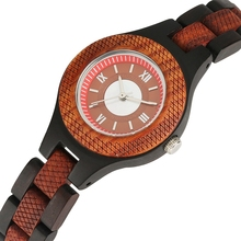 купить Women Watch Chic Smaller Dial Wood Quartz Analog Watches Natural Full Wooden Band Lady Minimalist Watch for Woman DROP SHIPPING дешево