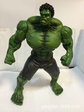 26cm Marvel Anime The Avengers Action Figures The Hulk Garage Kits green and red Model With Beautiful Box For Fans