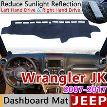 Для jeep wrangler jk 2007 ~ 2017 Противоскользящий коврик на