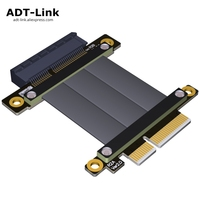 PCIe x4 3.0 extension cable extender Riser For Full signal connector PCI Express x4 Capture RAID SSD LAN USB cards extension