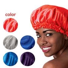 Fashion Sleeping Hat Night Sleep Cap Hair Care Satin Bonnet
