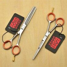 "5.5"" 14cm Japan Kasho 440C Professional Human Hair Scissors Hairdressing Scissors Cutting Shears Thinning Scissors H1017"
