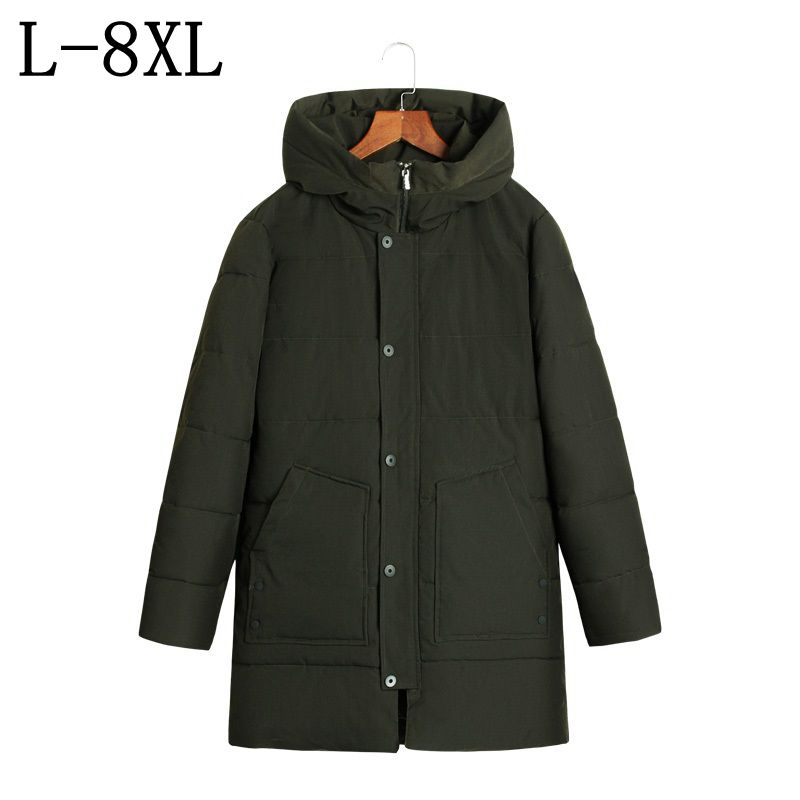 -25 Degree Temperature Parka Men Cotton Padded Long Thick Warm Casual Men's Winter Jacket Size 7XL 8XL Jackets Men 2017 new fashion winter jacket men long thick warm cotton padded jackets coat parka overcoat casual outwear jacket plus size 6xl