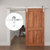 4.9FT/6FT/6.6FT stainless steel interior modern single wooden sliding door systems