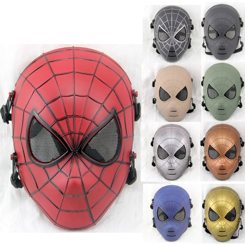 DC19 Spiderman Skull Military Tactical Outdoor Wargame Paintball Airsoft Full Face Protective Mask Halloween Party