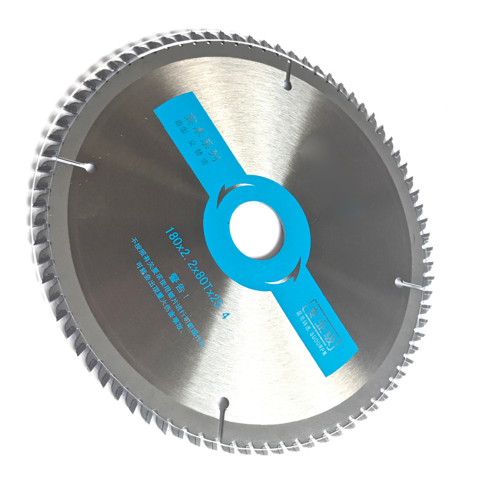 Professional quality 180*25.4*2.2*80z TCT saw blade woodworking high density carbide tipped for home decoration wood cutting