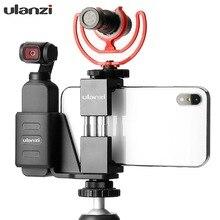 DJI OSMO ポケット携帯電話ブラケットホルダーとマイクコールドシューマウント OSMO ポケット Vlogging カメラアクセサリー
