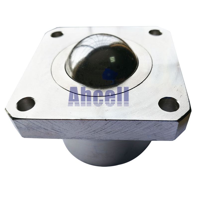 Ahcell SI51 700kg load capacity ball roller Heavy duty Flange Ball transfer unit SI-51 machined solid steel ball bearing caster
