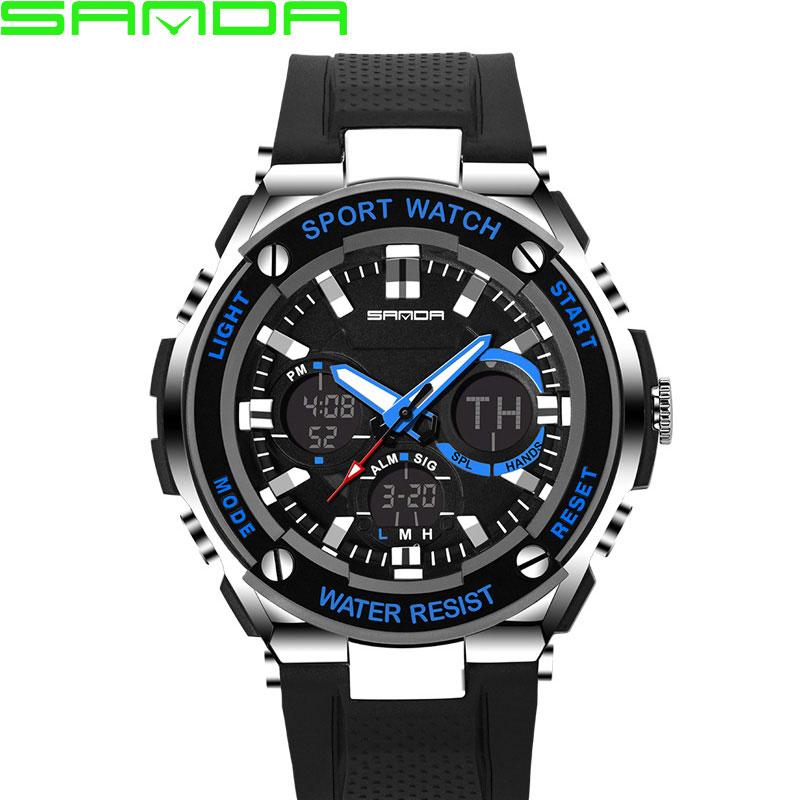 Prix pour SANDA LED Numérique Montre Hommes 2017 Top Marque De Luxe Célèbre Montre-Bracelet Homme Horloge Poignet Montre Sport Numérique-montre Relogio Masculino