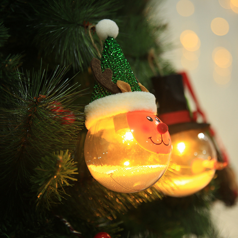 2018 Christmas Ball Light Ornaments Plastic Flat Ball ...
