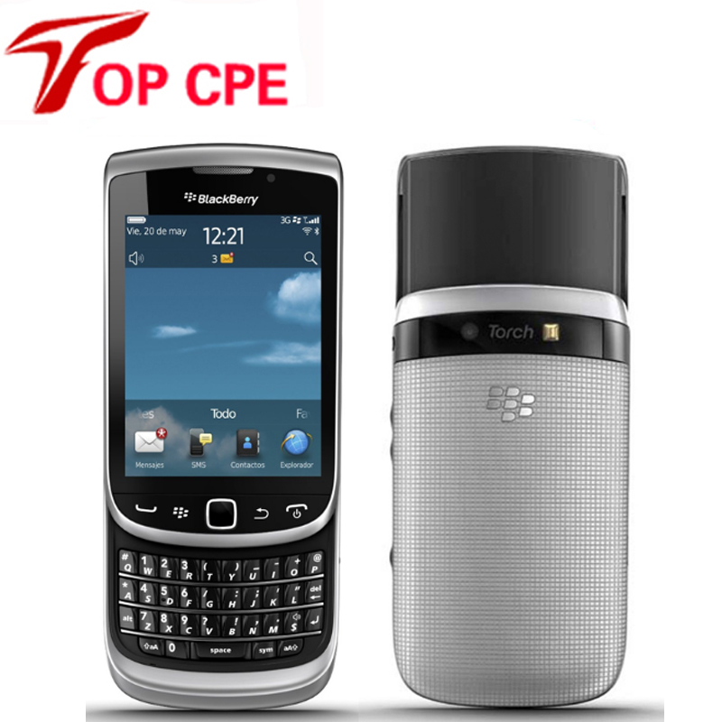 9810 Original Unlocked Blackberry Torch2 9810 mobile phone 5MP WIFI Refurbished phone  Drop  shipping