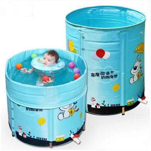 Envío Gratis Descuento Plegable Ajustable Bebés Piscina Bebé Piscina Piscina Piscine Stent de Aleación de Bebés y Niños Niños Nadar Piscina