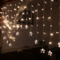 Holiday lights the room decorate birthday all over the sky star star LED lights flash lamps star curtain light 2M*1M,104 bulbs