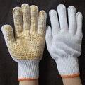 Желтые Бусы Рабочие перчатки точка пластиковые перчатки резиновые скольжению перчатки руки рабочих протектор G0415