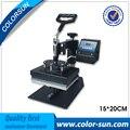15*20 cm de la camiseta digital plana máquina de prensa de calor elemento pequeño apartamento en ventas calientes