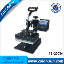 15*20cm digital tshirt flat heat press machine for small flat item on hot sales
