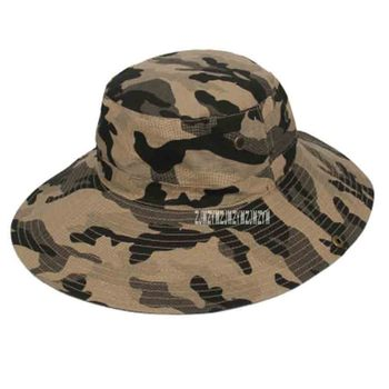 50pcs/lot New Arrival Foldable Outdoor Sun-shading Fishing Hat Summer Male Camouflage Hat Fisherman Hat Sunscreen Sun Hat фото