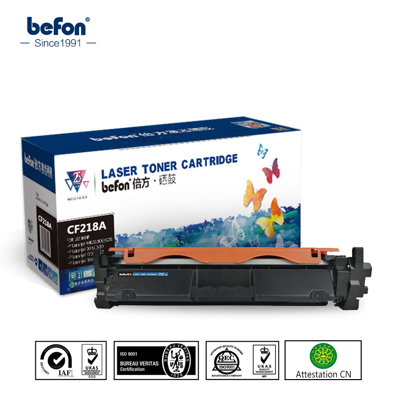 cartridge 218a - befon Refill 18A 218A Toner Cartridge Replacement for HP CF218A CF218 218 LaserJet Pro M104a M104w 104 132 132a M132fn M132fp