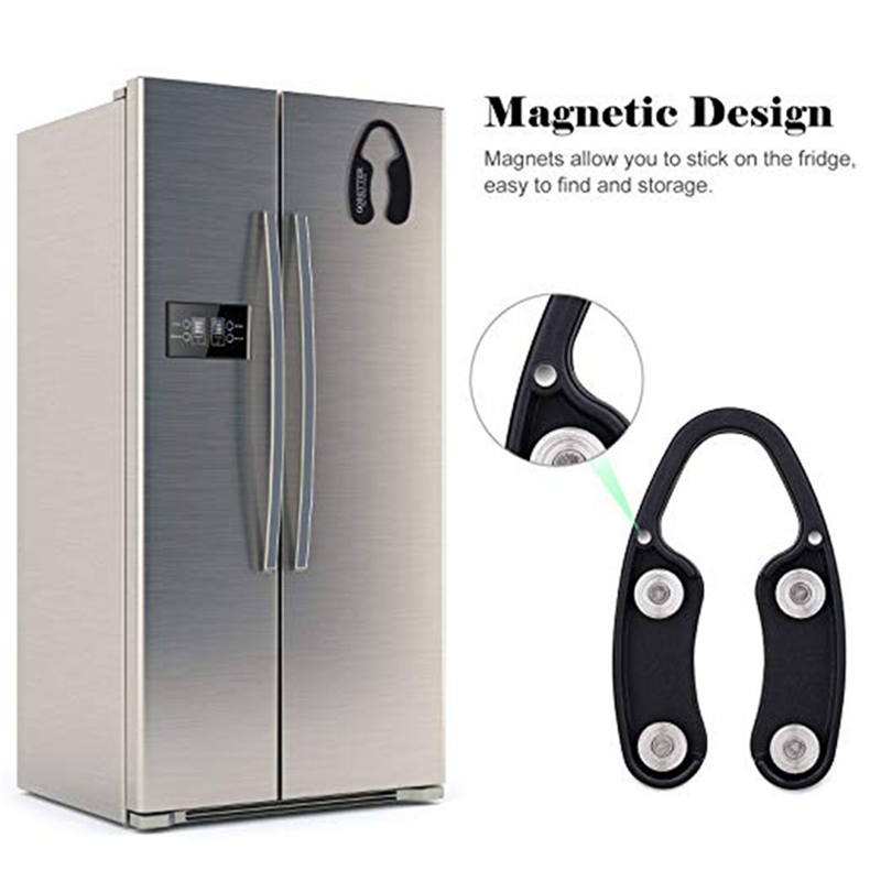 Magnetic Storage Organizer Black Bottle Opener Foil Remover Beer Wine Foil Sharp Cutter Bar Tools For Bottles Opening