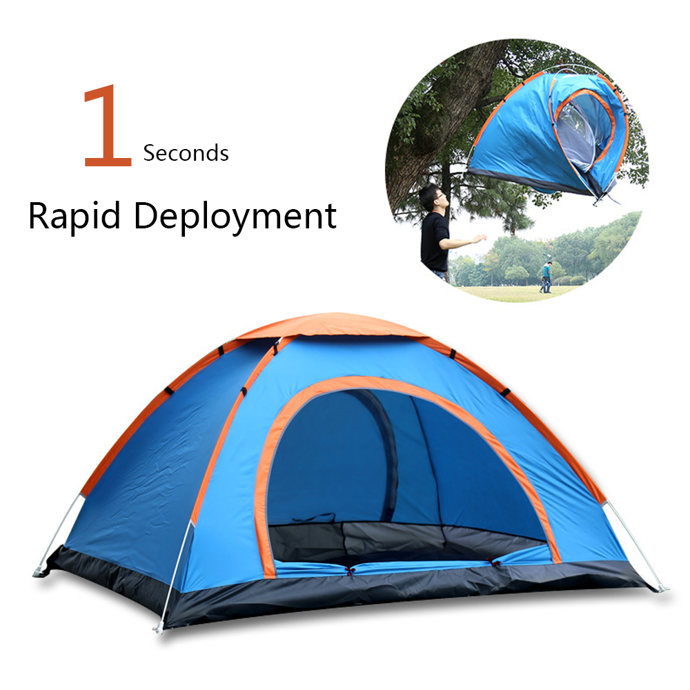 200*150 cm camping en plein air tente tentes carpas de camping Coupe-Vent Instantanée Pop Up Tente Ouverte Grand Espace Plage famille Voyage - 2
