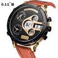6 11 DUANTAI  роскошные дизайнерские часы для мужчин  спортивные часы  кварцевые часы для мужчин  роскошный кожаный ремешок  водонепроницаемые кв...
