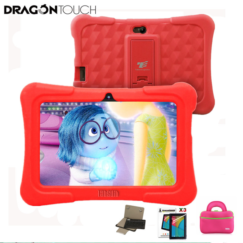 Dragon Touch Red Y88X Plus 7 inch Children Tablet Quad Core Android 5.1 + Tablet case + Screen Protector + keyboard for Kid скатерть angel ya children tsye zb266 88