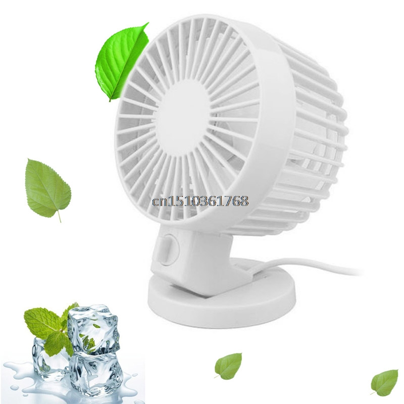 Ultra-quiet Mini USB Desk Fan Portable Dual Blade Desk Super Mute Laptop PC USB Cooler Small Fan Cooling #Y05# #C05# dobe tyx 619s dual usb cooling fan for xbox one s console