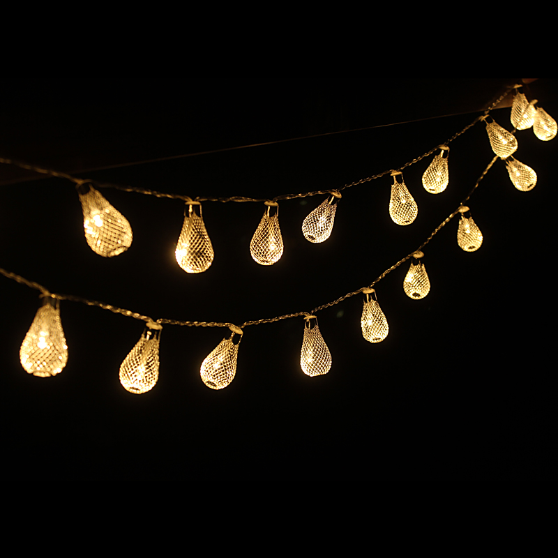 2M 20LED String Lights Bateri aa Lampu Krismas Pernikahan Fairy - Pencahayaan perayaan - Foto 4