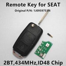 Дистанционного Ключа Автомобиля Чип для SEAT Ibiza Leon Toledo Keyless Управления 434 МГц с ID48 1J0959753N 1J0 959 753N