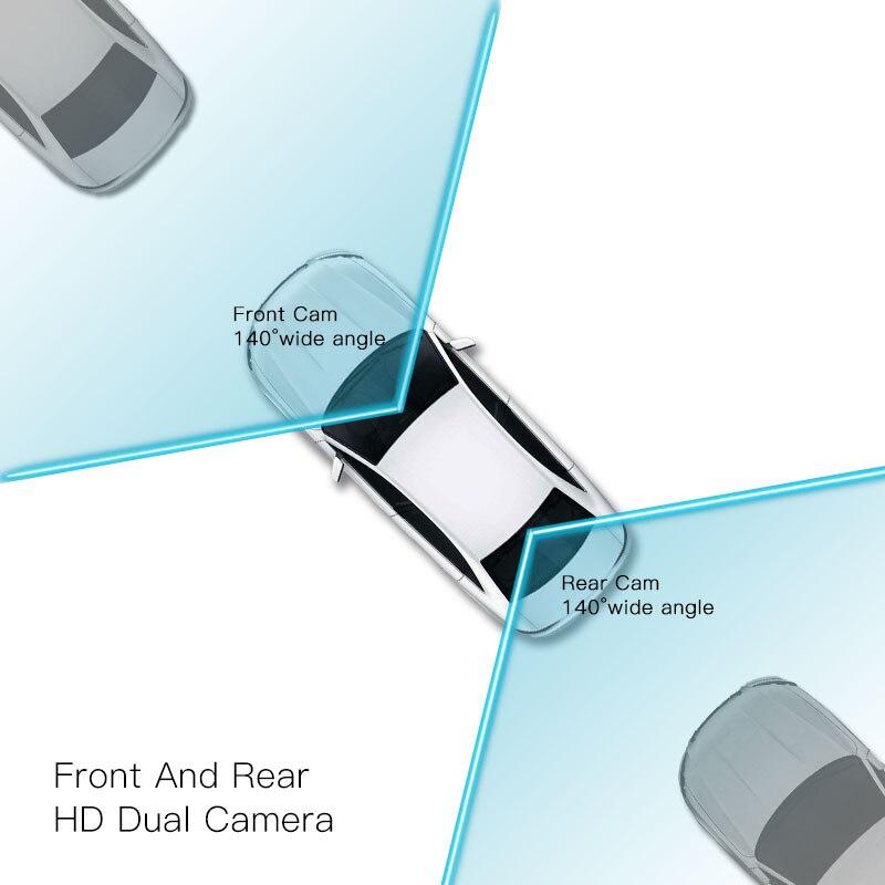 JADO D560 Miroir Dvr dash Caméra avtorégistrateur 6.86 Écran Full HD 1080 P Dvr de voiture enregistreur de bord dash cam - 3