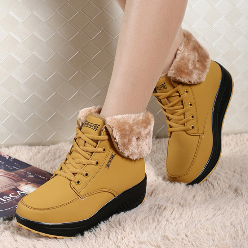 b164f6dddb8832 Shoes Woman Boots 2018 Winter Hot Sales Female Boots Fenty Beauty Snow Boots  Plus Size Warm Lace up Plush Ankle Boots for Women-in Ankle Boots from Shoes  on ...