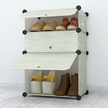 Simple dust shoe rack multilayer living room combination dormitory housing assembly simple plastic