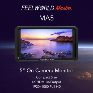 Image 5 - Feelworld Master MA5 2018 nowy monitor zewnętrzny na aparacie 5 Cal Full HD 4K HDMI wejście/wyjście dc 8.4V moc wyjściowa dla lustrzanki cyfrowe