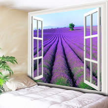 Purple Lavender Bohemia Tapestry Wall Hanging Indian Home Decor Hippie Tapestries Living Room Wall Carpet Blanket lavender scenic living room decor wall sticker