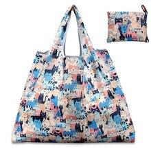 Новая 6 видов цветов сумка для покупок, женская складная сумка из ткани Оксфорд, многоразовая сумка для фруктовых продуктов