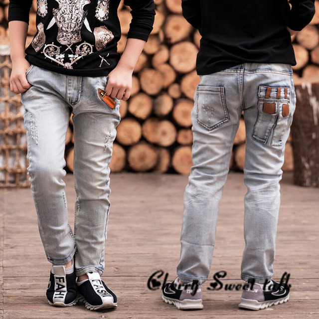 a4a5187d0 Free shipping Boys Jeans Spring and Autumn kids pants boys baby Stretch  joker jeans children jeans 3 4 5 6 7 8 9 10 11 12 13 14