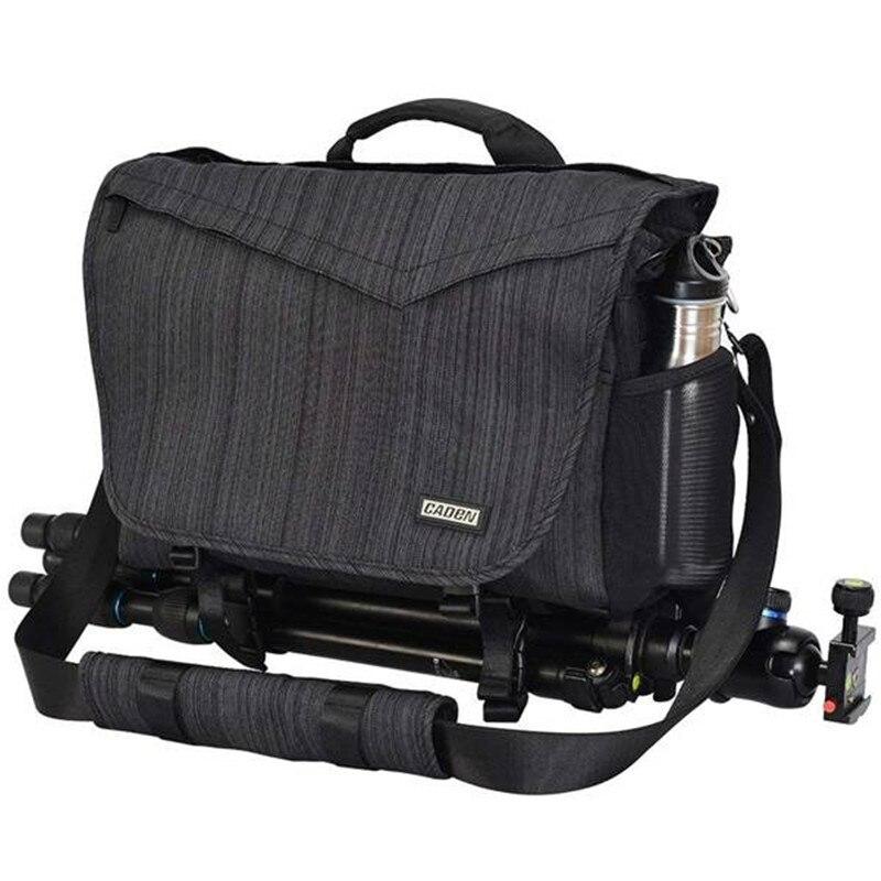 CADeN DSLR Camera Bag Shoulder Messenger Bag for Canon Nikon Camera 3 Lens 14 Inch Laptop цена 2017