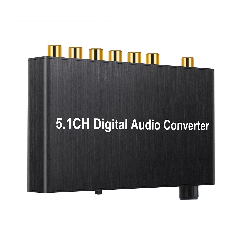 192 kHz DAC Convertisseur Numérique Audio Décodeur Coaxial/Toslink à 5.1CH/2.0CH Analogique 3.5mm Jack Sortie avec Contrôle Du Volume kno