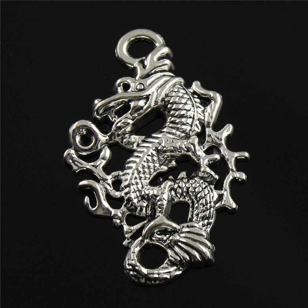 5 Buah Naga Charms Liontin Naga Cina Liontin Mulia Naga Temuan Perhiasan Liontin Membuat Perhiasan